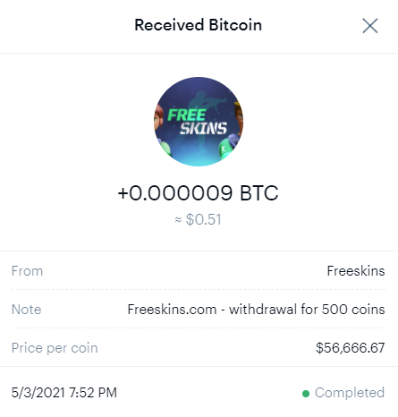 FreeCash Payment Proof
