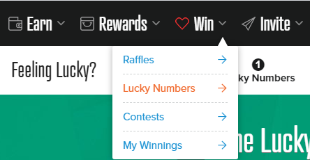 PrizeRebel Lucky Numbers