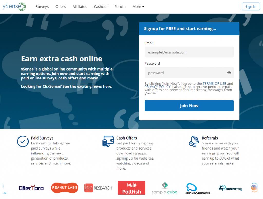 ySense Homepage